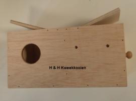 H & H agaporniden inschuifblok gat links