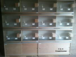Kooienwand met nestkastjes