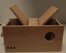 H & H agaporniden inschuifblok gat rechts