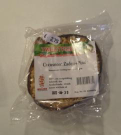 Halve cocosnoot  met zaden + pinda 200 gram