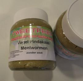 vogelpindakaas met meelwormen