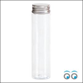 Tube met zilveren dop