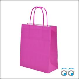 Kraft tas pink large