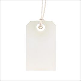 Wit label met touw (48st)