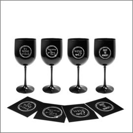 Wine set - Black