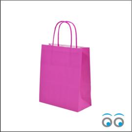 Kraft tas pink small