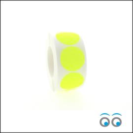 Rond 35 mm fluor geel