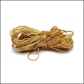 Elastiek goud - 1 mm