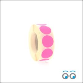 Rond 25 mm fluor pink