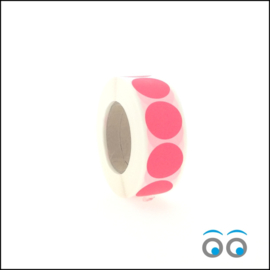 Rond 25 mm fluor rood