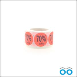 70% korting