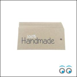 100% Handmade - label 50 stuks