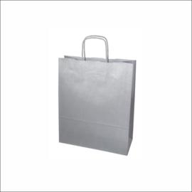 Kraft tas zilver small