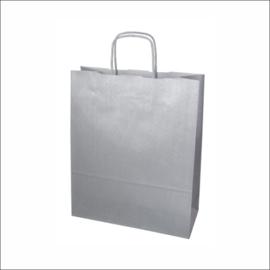 Kraft tas zilver middel