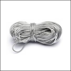 Elastiek zilver - 1 mm