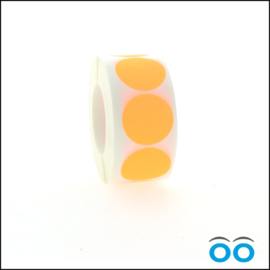 Rond 35 mm fluor oranje