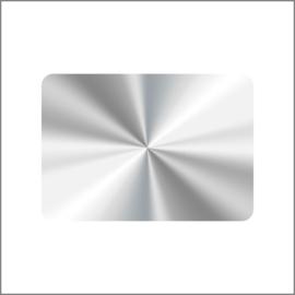 36 x 25 mm  - Zilver