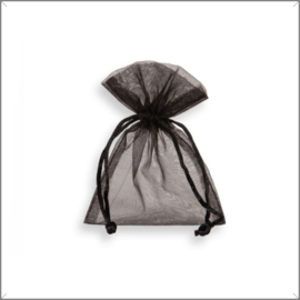 Organza zakjes - zwart 8x10 cm - 100 stuks