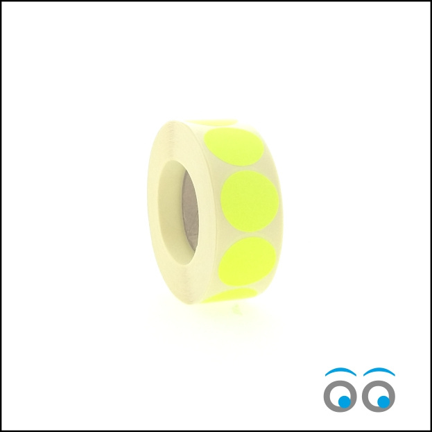 Rond 25 mm fluor geel
