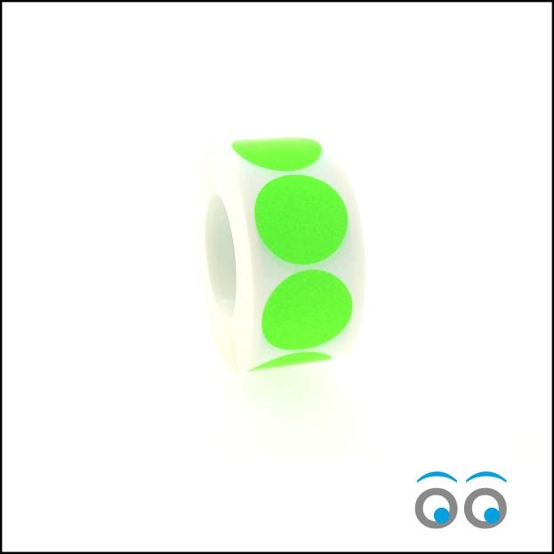 Rond 35 mm fluor groen
