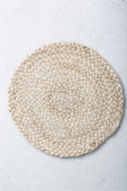Urban Nature Culture Placemat (set van 4), jute, Ø30 cm