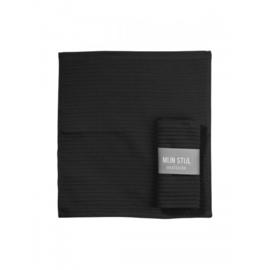 Vaatdoek zwart met banderol