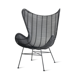 HKliving outdoor Egg Chair black