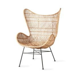 HKliving - rattan egg chair natural bohemian