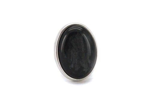 Ring Door, zwart ovaal