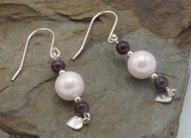 Shell pearl rose/granaat