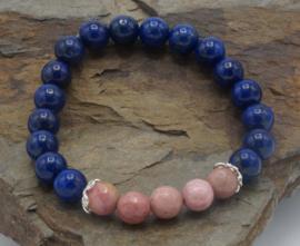 Lapis lazuli/rhodochrosite ± 16 cm