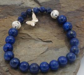 Lapis lazuli met vlinder  ± 17 cm
