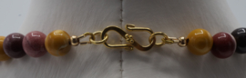 Mookaite en turqouise ivory  ± 45cm