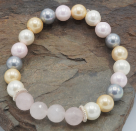 Shell pearl/rose quarts ± 16 cm