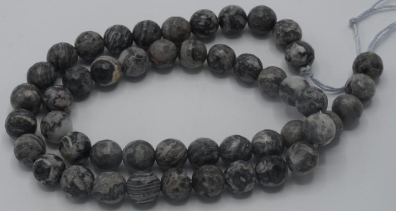 Net stone rond gefaceteerd 8mm