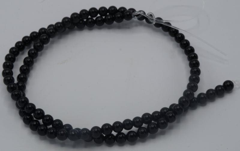 Agaat zwart 4mm