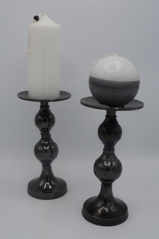 Kaarsenstanders metaal met  kaarsen
