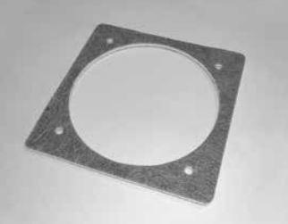 ventilator pakking (vierkant) tussen ventilator en ketel - voor ventilator UCJ4C52 en diverse andere merken