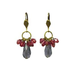 Cluster Earrings Aubergine