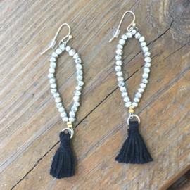 Dewdrop Tassel Earrings silver
