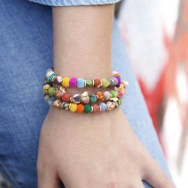 Kantha Pom Pom Bracelet