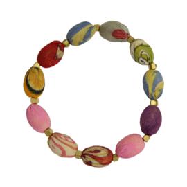 Kantha Oval Bracelet