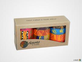 Nobunto Giftbox met 3 ronde stompkaarsen Shahida