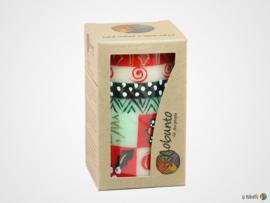 Nobunto Giftbox met 1 grote ronde stompkaars Ukhisimusi