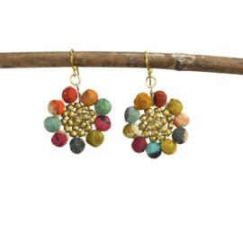 Kantha Sunflowers Earrings