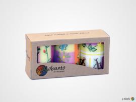 Nobunto Giftbox met 3 ronde stompkaarsen Imbali