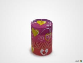 Nobunto Giftbox met 3 ronde stompkaarsen Ashiki