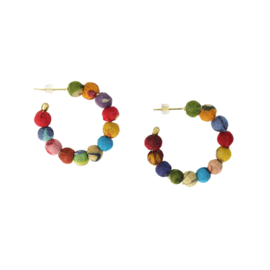 Kantha Mini Hoops Earrings