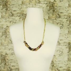 Kantha Braided/Chain Necklace