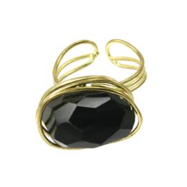 Agate Ring black